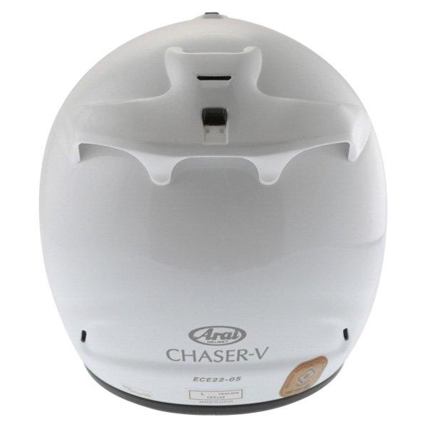 Arai Chaser-V Diamond White Full Face Motorcycle Helmet Back