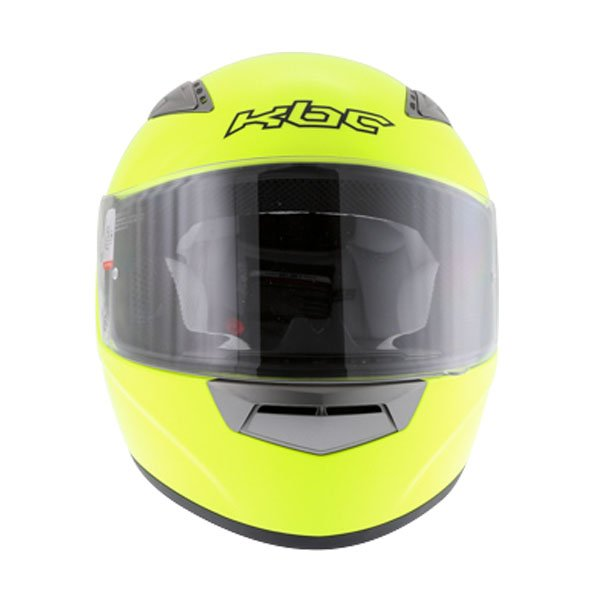KBC VR Yellow Full Face Motorcycle Helmet Front