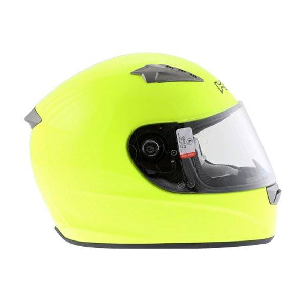 KBC VR Yellow Full Face Motorcycle Helmet Right Side