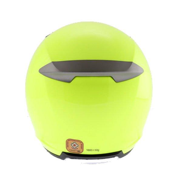 KBC VR Yellow Full Face Motorcycle Helmet Back