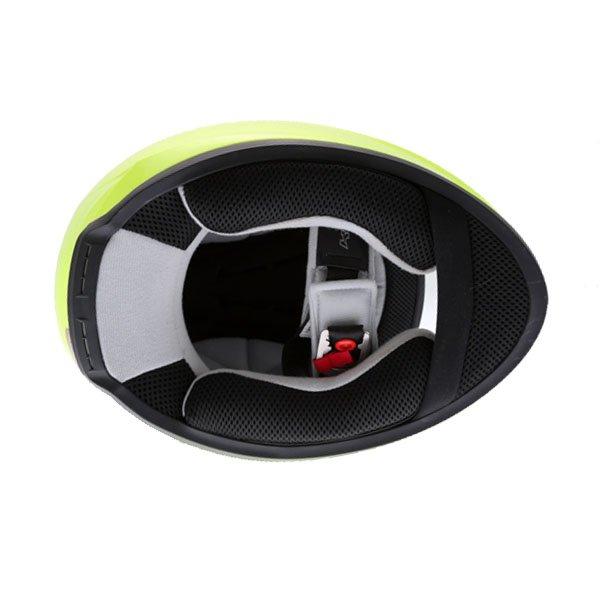 KBC VR Yellow Full Face Motorcycle Helmet Inside