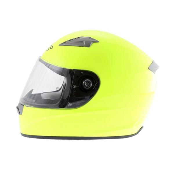 KBC VR Yellow Full Face Motorcycle Helmet Left Side