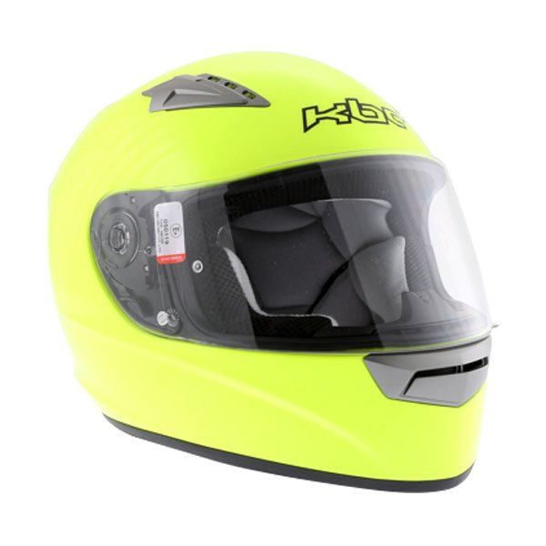 KBC VR Yellow Full Face Motorcycle Helmet Front Left