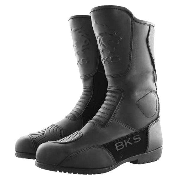BKS 1022 Thunder Black Motorcycle Boots Pair