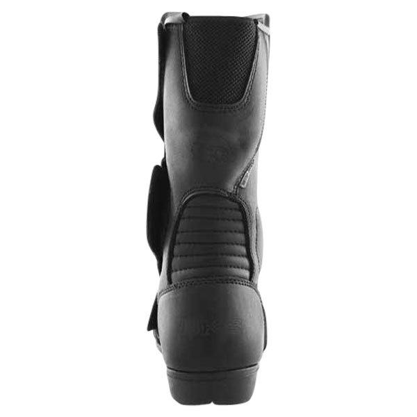 BKS 1022 Thunder Black Motorcycle Boots Heel
