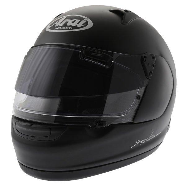 Arai Quantum ST Frost Black Full Face Motorcycle Helmet Front Left