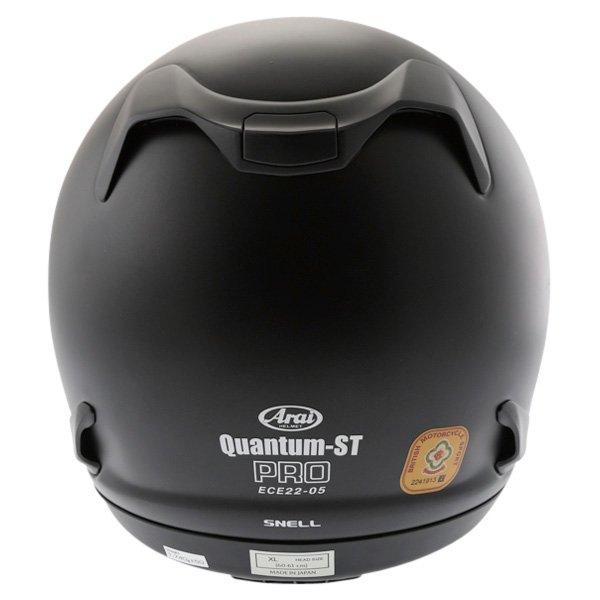 Arai Quantum ST Frost Black Full Face Motorcycle Helmet Back