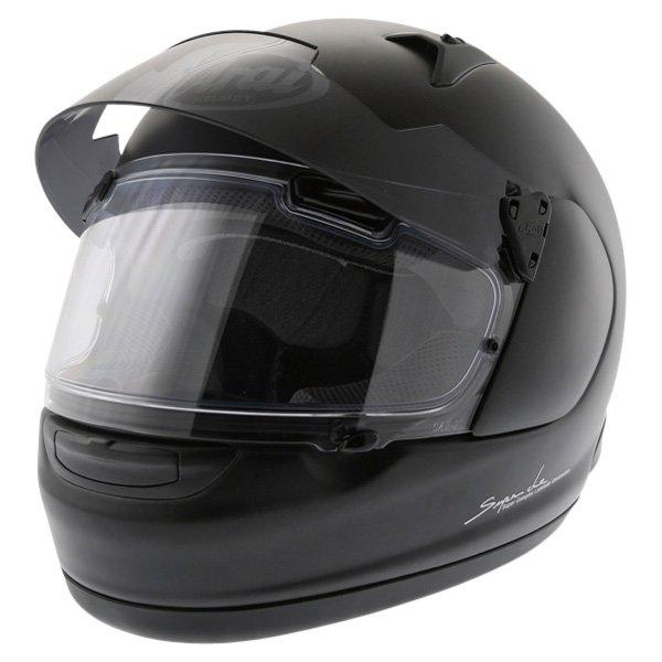Arai Quantum ST Frost Black Full Face Motorcycle Helmet Sun Visor Up