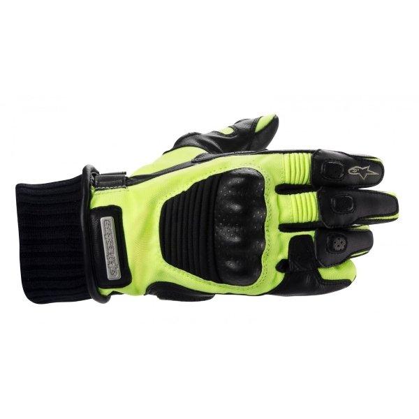 Alpinestars Artic DS Black and Yellow Gloves Back