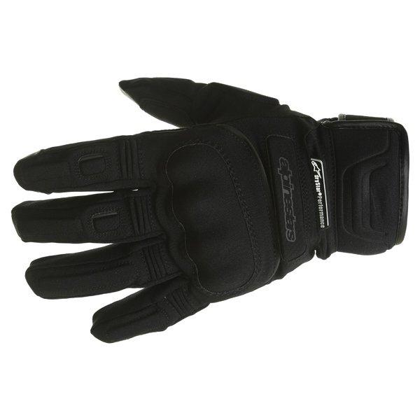 Alpinestars C-10 Drystar Black Waterproof Motorcycle Gloves Back