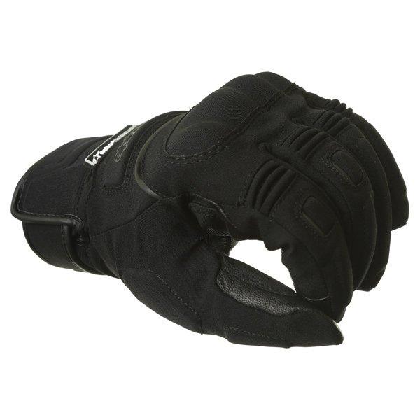Alpinestars C-10 Drystar Black Waterproof Motorcycle Gloves Knuckle