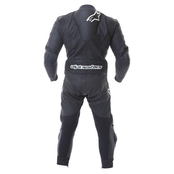 Alpinestars Carver 1pc Mens Black Leather Motorcycle Suit Back