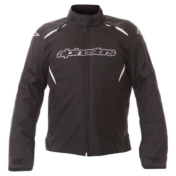Alpinestars Gunner Mens Black Waterproof Textile Motorcycle Jacket Front