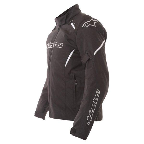Alpinestars Gunner Mens Black Waterproof Textile Motorcycle Jacket Back