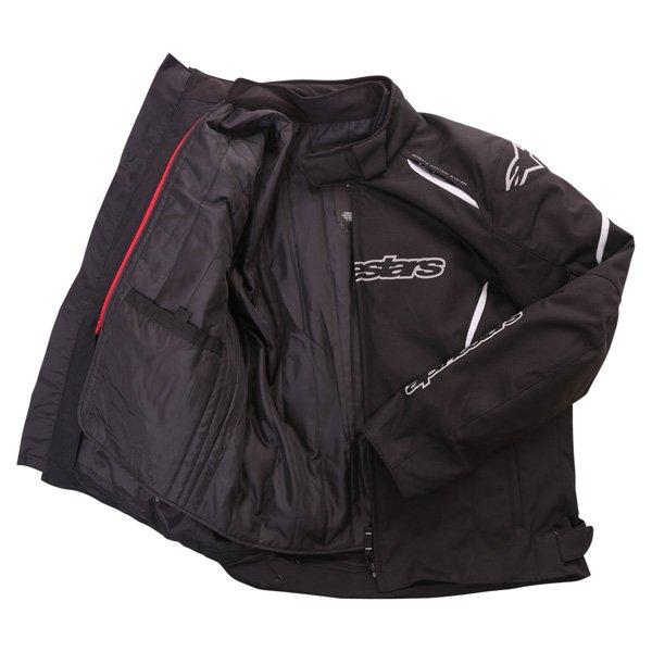 Alpinestars Gunner Mens Black Waterproof Textile Motorcycle Jacket Inside