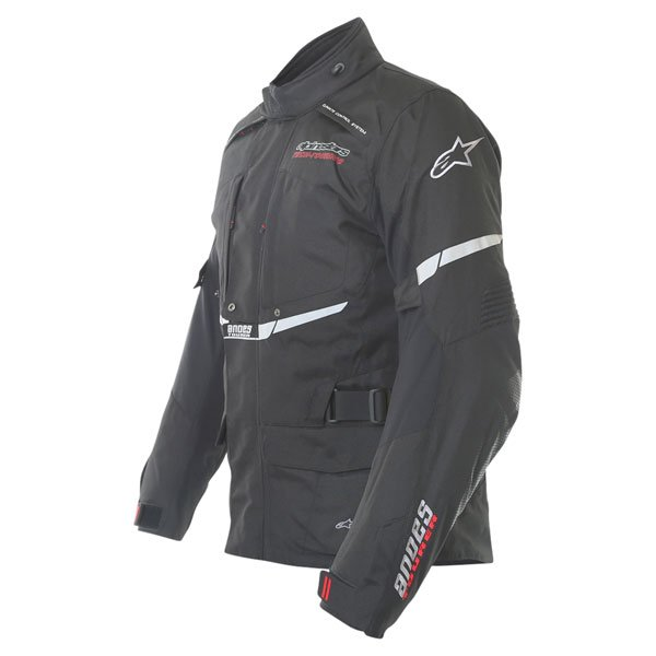 Alpinestars Andes Drystar Mens Black Waterproof Textile Motorcycle Jacket Side
