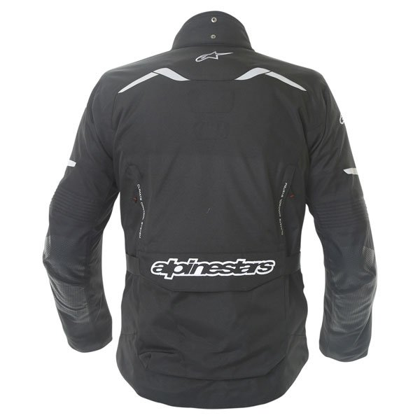 Alpinestars Andes Drystar Mens Black Waterproof Textile Motorcycle Jacket Back