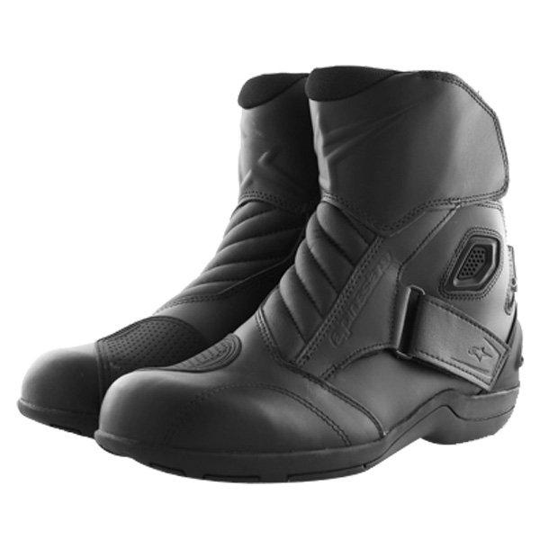 Alpinestars New Land Goretex Waterproof Black Motorcycle Boots Pair