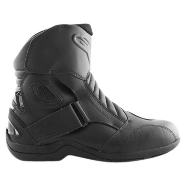 Alpinestars New Land Goretex Waterproof Black Motorcycle Boots Outside leg