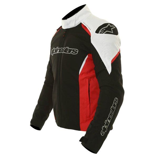 Alpinestars Gunner Mens Black Red White Waterproof Textile Motorcycle Jacket Side