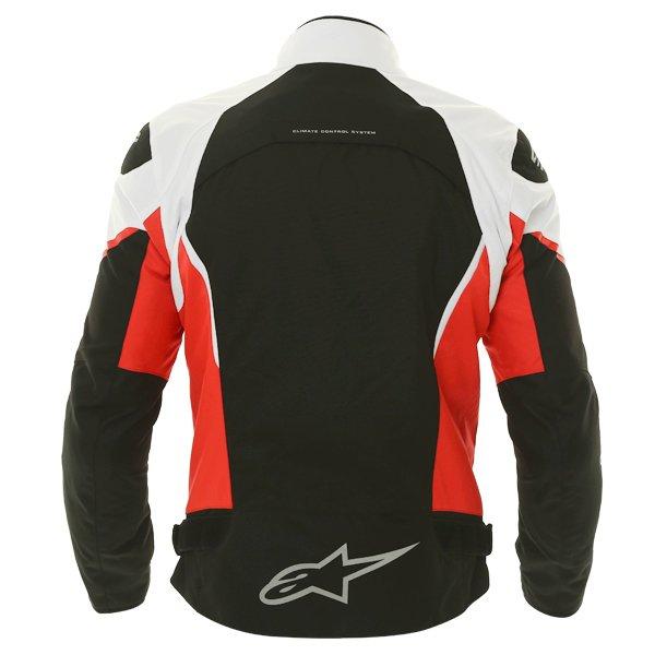 Alpinestars Gunner Mens Black Red White Waterproof Textile Motorcycle Jacket Back
