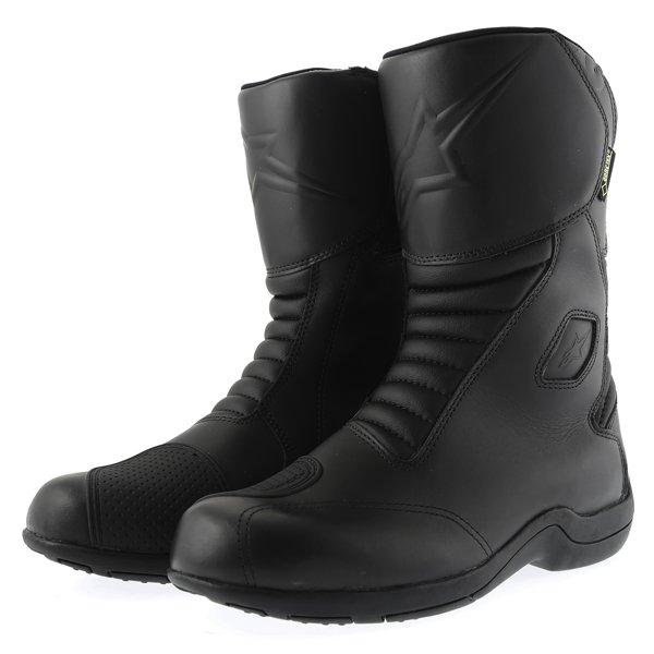 Alpinestars Web Goretex Black Waterproof Motorcycle Boots Pair