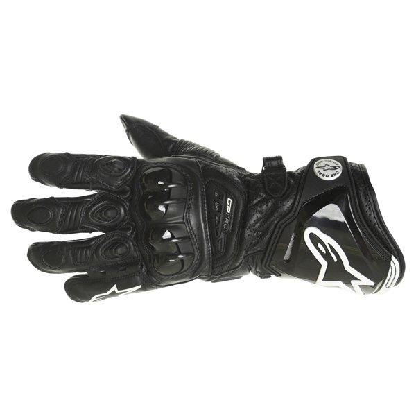 Alpinestars GP Pro Black Motorcycle Gloves Back