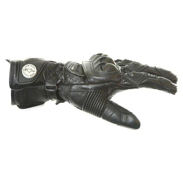 Alpinestars GP Pro Black Motorcycle Gloves Thumb side