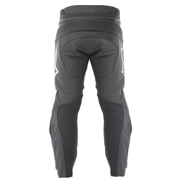 Alpinestars Track 2013 Black Leather Motorcycle Jeans Rear