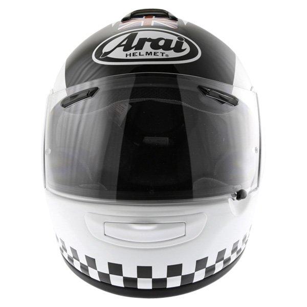 Arai Chaser-V Legend White Full Face Motorcycle Helmet Front