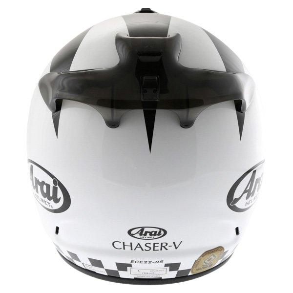 Arai Chaser-V Legend White Full Face Motorcycle Helmet Back