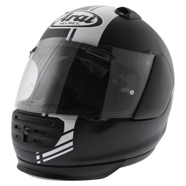 Arai Rebel Base White Full Face Motorcycle Helmet Front Left