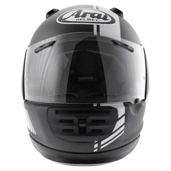 Arai Rebel Base White Full Face Motorcycle Helmet Front