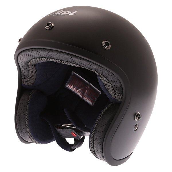 Arai Freeway 2 Frost Black Open Face Motorcycle Helmet Front Left