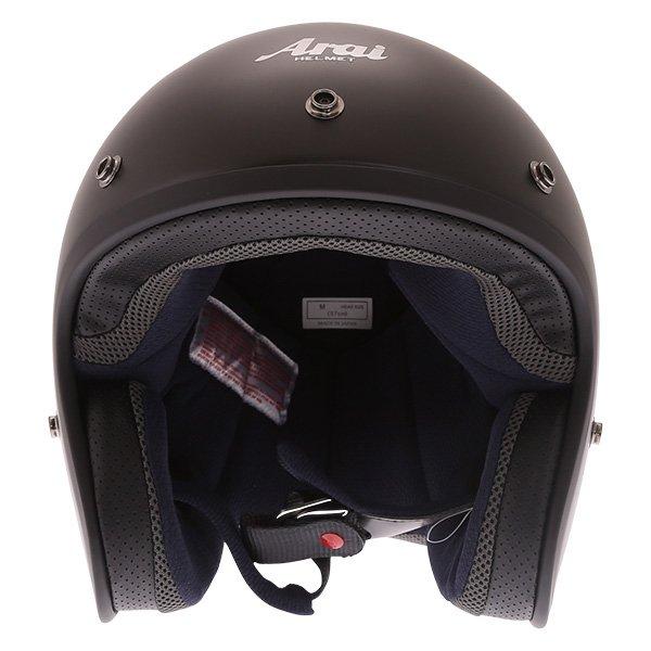 Arai Freeway 2 Frost Black Open Face Motorcycle Helmet Front