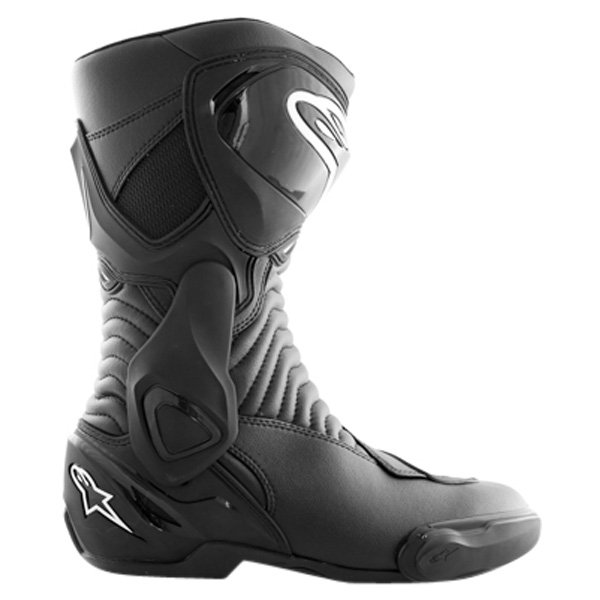 Alpinestars S-MX 6 Black Motorcycle Boots Outside leg