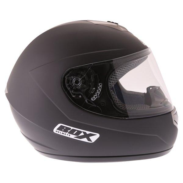 Box BX-1 Matt Black Full Face Motorcycle Helmet Right Side