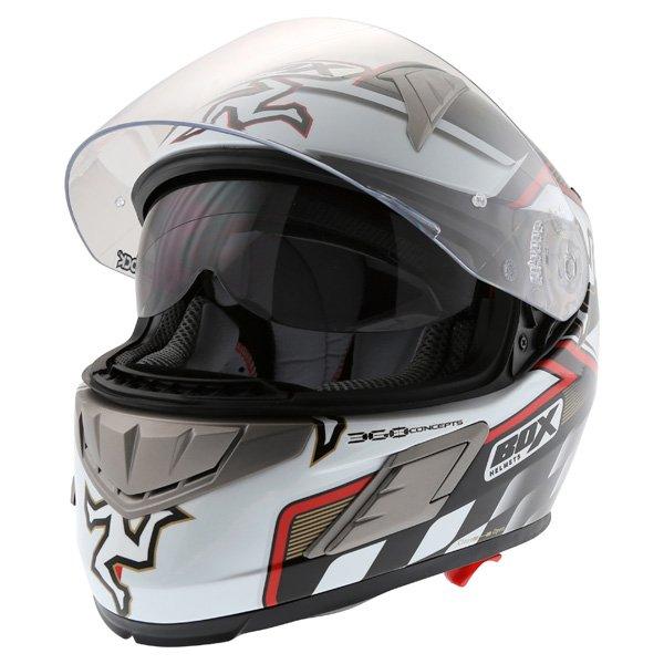 Box BZ-1 Isle Of Man Full Face Motorcycle Helmet Open With Sun Visor