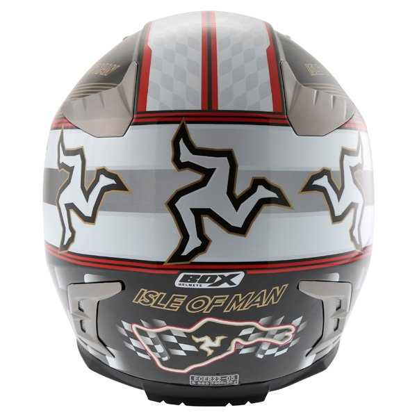 Box BZ-1 Isle Of Man Full Face Motorcycle Helmet Back