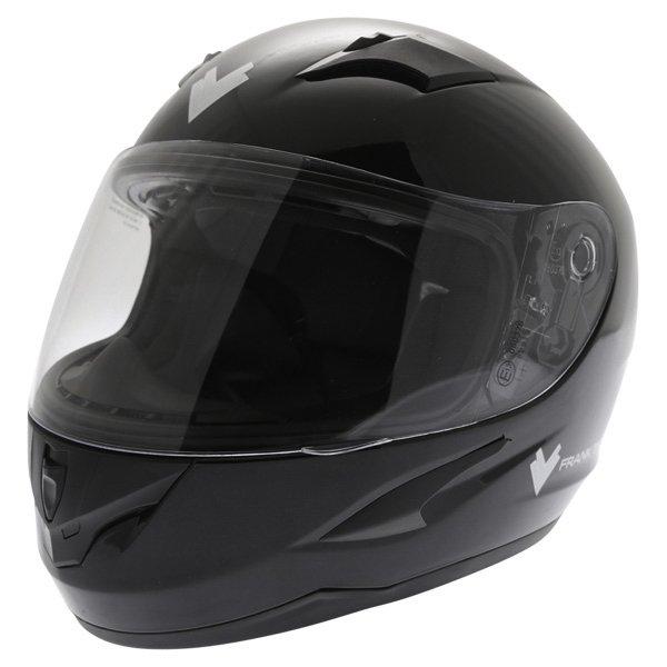 Frank Thomas FT36 Black Full Face Motorcycle Helmet Front Left