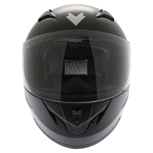 Frank Thomas FT36 Black Full Face Motorcycle Helmet Front
