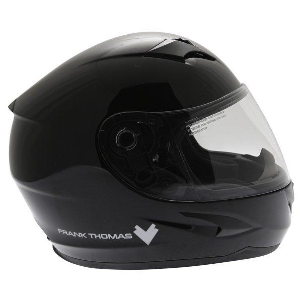 Frank Thomas FT36 Black Full Face Motorcycle Helmet Right Side