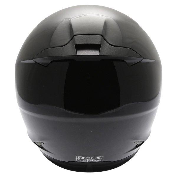 Frank Thomas FT36 Black Full Face Motorcycle Helmet Back