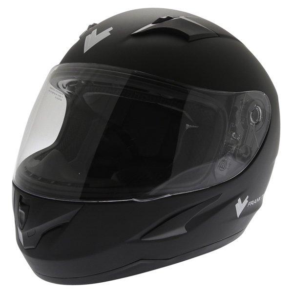 Frank Thomas FT36 Matt Black Full Face Motorcycle Helmet Front Left