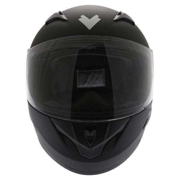 Frank Thomas FT36 Matt Black Full Face Motorcycle Helmet Front