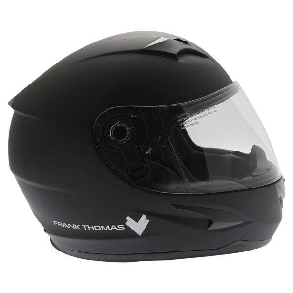 Frank Thomas FT36 Matt Black Full Face Motorcycle Helmet Right Side