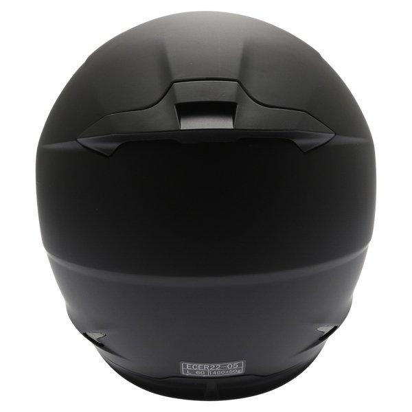Frank Thomas FT36 Matt Black Full Face Motorcycle Helmet Back