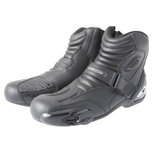 Alpinestars S-MX 1.1 Short Black Motorcycle Boots Pair