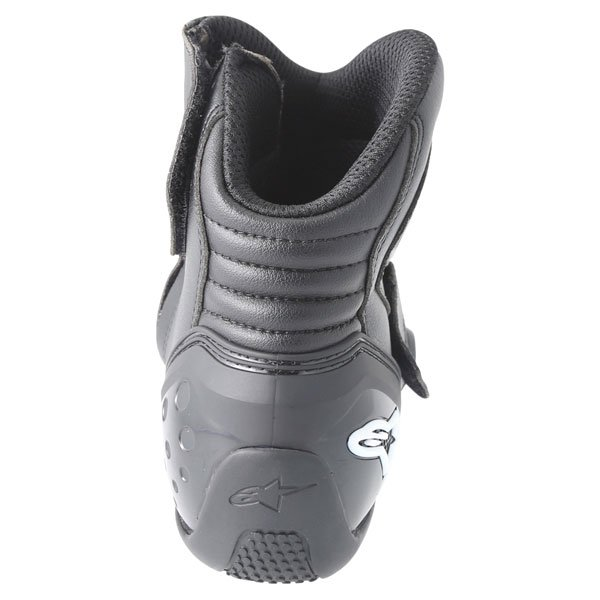 Alpinestars S-MX 1.1 Short Black Motorcycle Boots Heel
