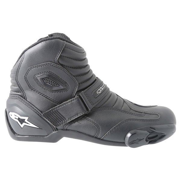 Alpinestars S-MX 1.1 Short Black Motorcycle Boots Outside leg